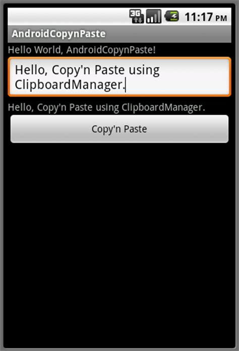 copy and paste on android android er copy and paste using clipboardmanager