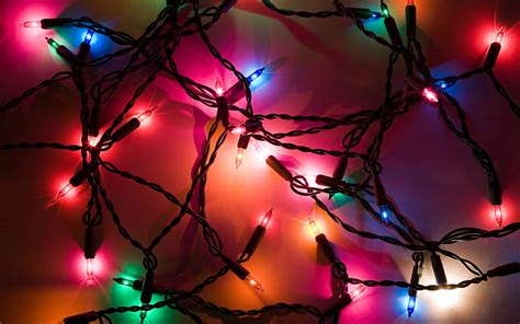 free beautiful christmas lights computer desktop wallpaper