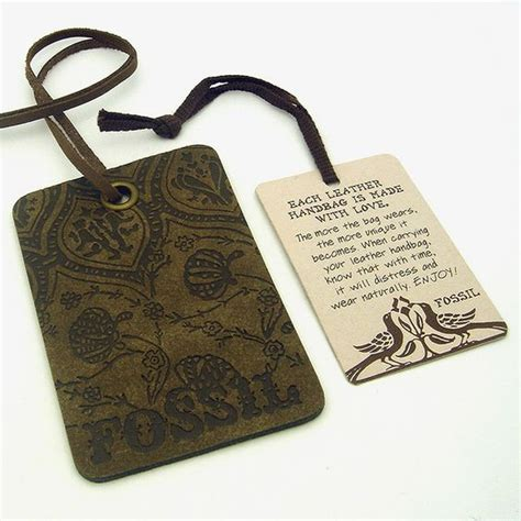 Leather Tag purse hang tags for fossil by julz sted leather tag