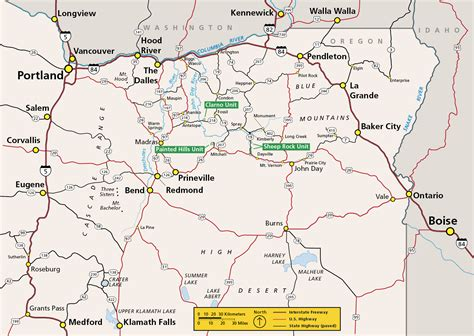 map of oregon day maps day fossil beds national monument u s