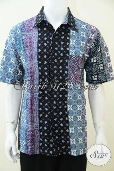 Baju Lacoka Lengan Pendek Bahan Nyaman kemeja batik gradasi lengan pendek bahan halus nyaman