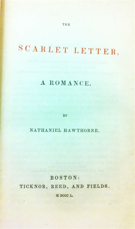 Scarlet Letter Character Quotes I Found It At The Watkinson 187 Archive 187 Hawthorne S Scarlet Letter