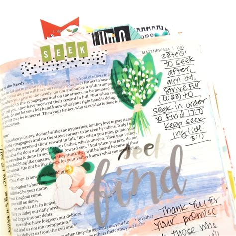 Read And Pray Bible An Illustrated Bible For Children print and pray bible journaling process letter