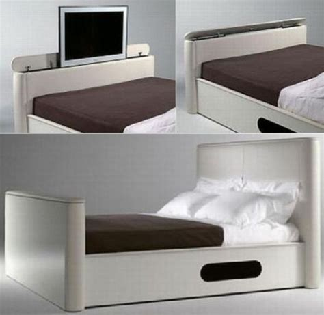 Bed Frame With Built In Tv Stand Bed With Built In Tv Craziest Gadgets