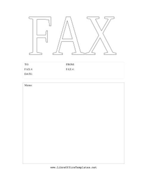 Fax Cover Sheet Template Open Office by Outline Fax Cover Sheet Openoffice Template