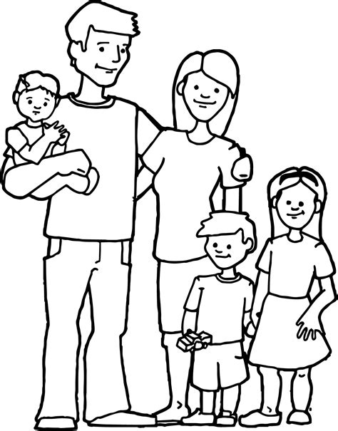 free coloring page family happy family free images family coloring page wecoloringpage