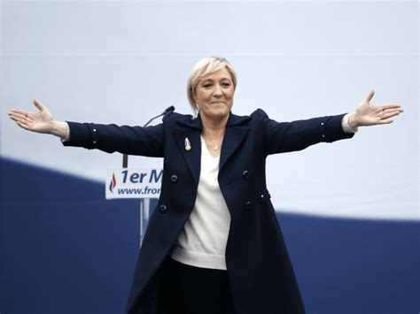 marine le pen marine le pen in parliament uk sent a signal of