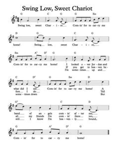 swing low sweet chariot original version free sheet music free lead sheet o holy night music