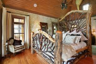 Rustic White Wood Bed Frame Amazing Rustic Bedroom Interior Design Ideas With Log Wood Bed Frame Furniture And Unique