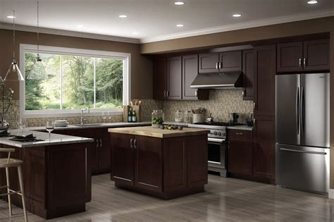 kitchen cabinets rta all wood all wood rta 10x10 luxor espresso shaker kitchen cabinets