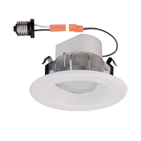 commercial electric white recessed led trim 4 inch the