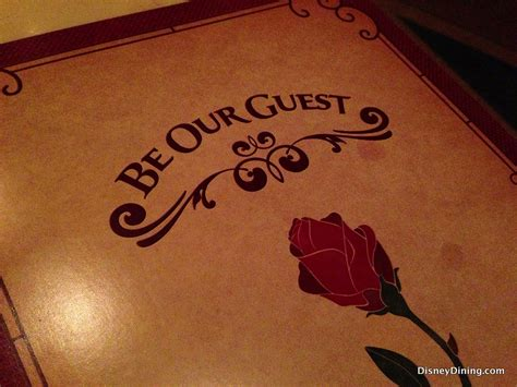 Be Our Guest by Review Be Our Guest Restaurant Disneydining