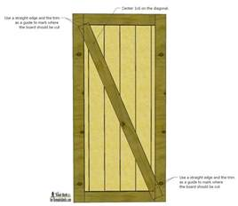 Barn Door Design Plans Remodelaholic Simple Diy Barn Door Tutorial