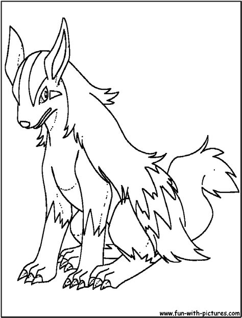 pokemon coloring pages poochyena mightyena coloring page