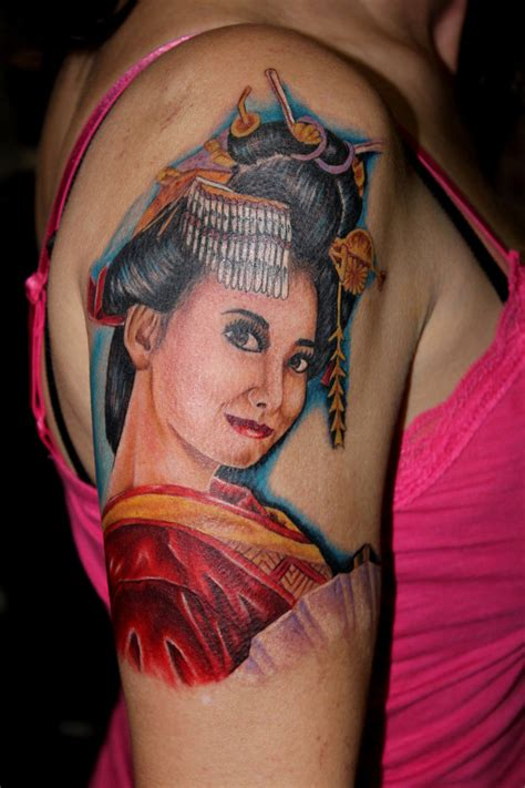 japanese geisha tattoo shoulder japanese geisha tattoos best tattoos designs