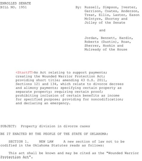 Wounded Warrior Protection Act Ok Sb1951 Final Version 5