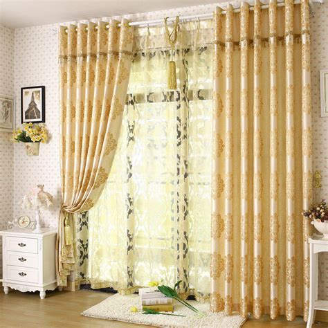 Living Room With Yellow Curtains Noble Bedroom Or Living Room Light Yellow Curtains