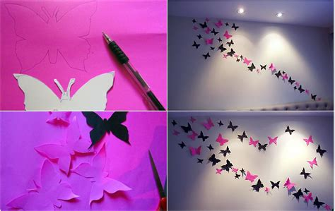 How To Make Paper Butterflies For Wall - paper butterflies wall wonderfuldiy