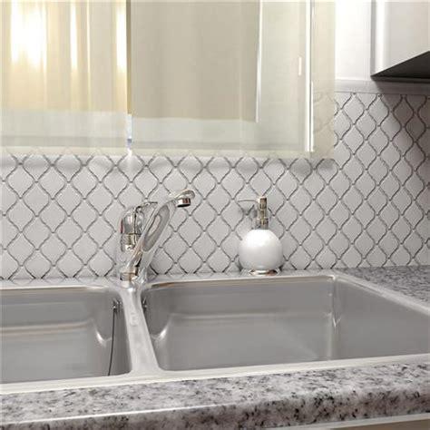"Arabesque Glossy White 9 7/8""x11 1/8"" Porcelain Mos"