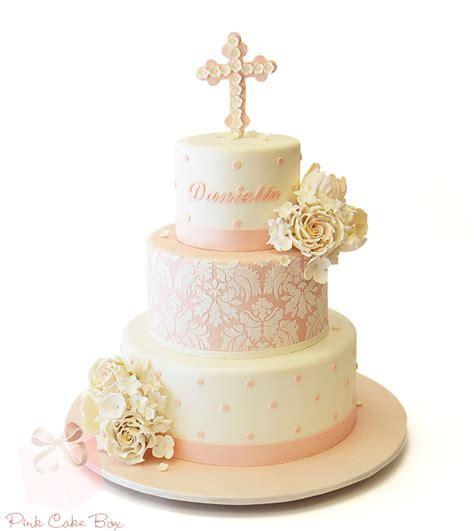 Baptism Cakes by Christening Baptism Cakes 187 Pink Cake Box Custom Cakes