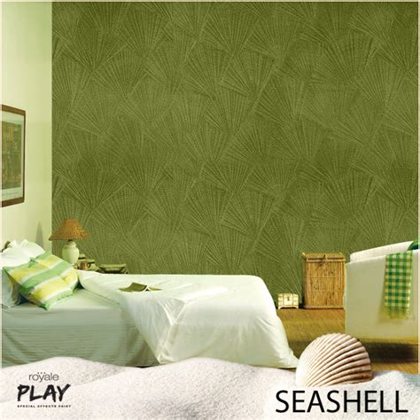asian paints on quot adorn your living room walls with this seashell effect from our royale