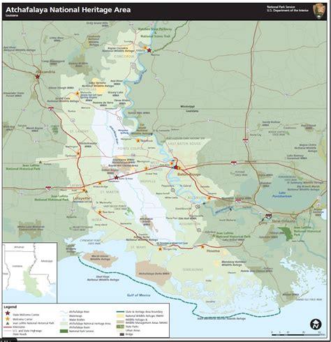 louisiana map distances directions atchafalaya national heritage area u s