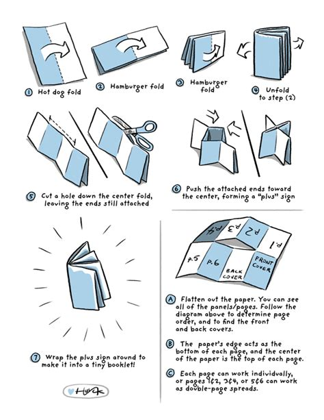 How To Fold Paper To Make A Book - create your own comic book