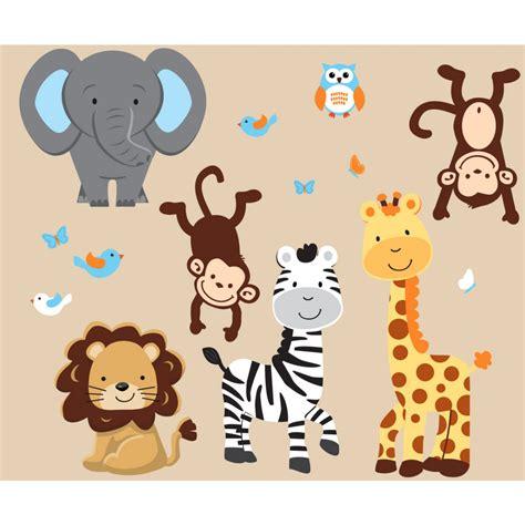 safari wall stickers safari wall decals for nursery thenurseries