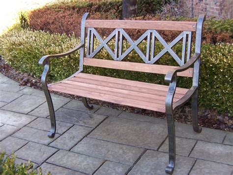 garden benched iron outdoor metal garden bench
