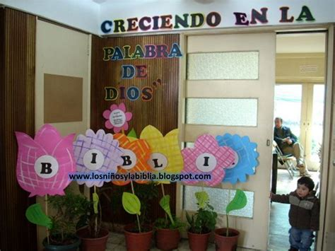 decoracion salon de clases escuela biblica los ni 241 os y la biblia ideas para el mes de la biblia