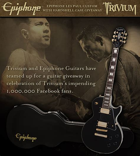 Les Paul Giveaway - win an epiphone les paul custom from trivium
