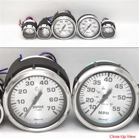 boat gauges set uk faria boat gauge set lund boats spun silver 5 piece ebay