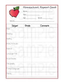 Blank Report Card Template by 5 Reasons Homeschoolers Should Use Report Cards Printable