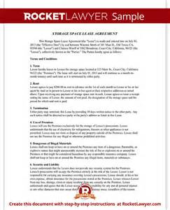 Self Storage Rental Agreement Template by Storage Rental Agreement Self Storage Unit Lease