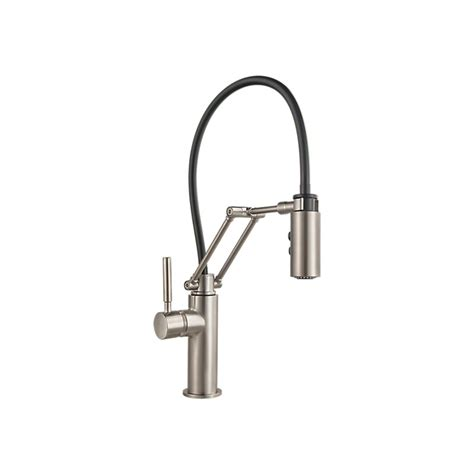 brizo solna kitchen faucet brizo 63221lf solna single handle articulating kitchen