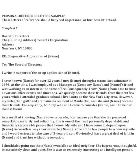 Personal Reference Letter For Application 5 Work Reference Letter Template 5 Free Word Pdf