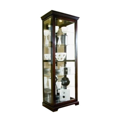pulaski chocolate cherry ii 30 inch wide curio cabinet 20994