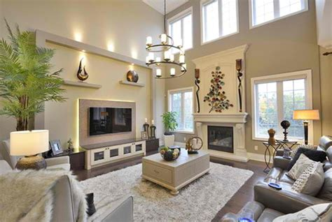 decorate  long narrow living room   fireplace