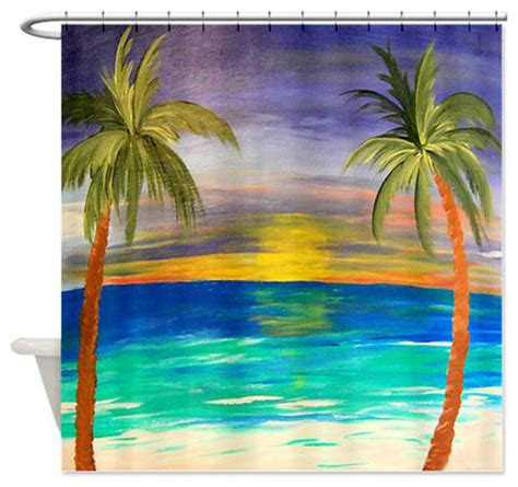 Tropical Shower Curtains Tropical Sunset Shower Curtain Tropical Shower Curtains By Gifts By The