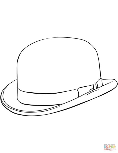 derby hat coloring page bowler hat coloring page free printable coloring pages