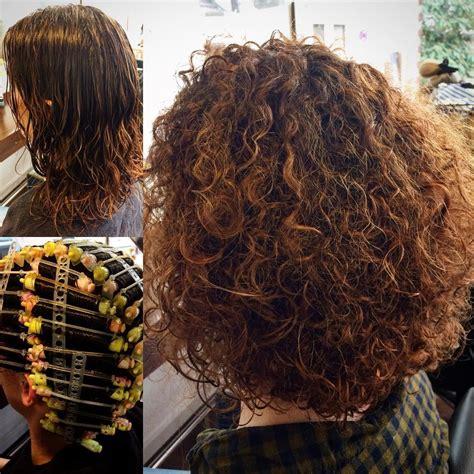 curly locken dauerwelle pony frisur