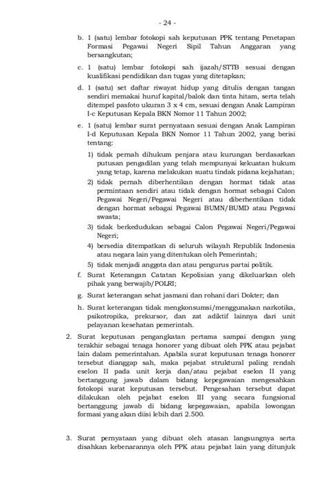 format daftar riwayat hidup sesuai keputusan bkn peraturan bkn tentang pemberkasan