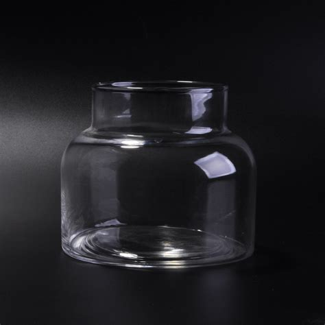 clear large capacity glass jar  candlesglass candle