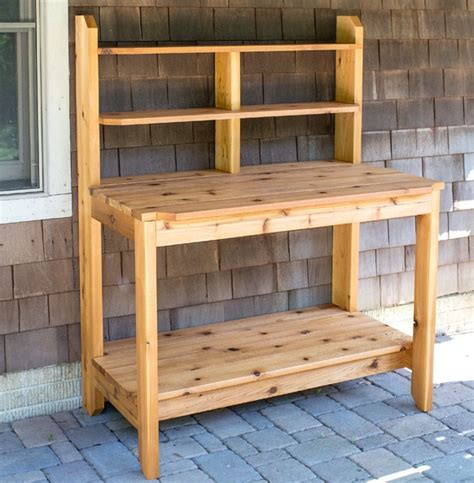 how to make potting bench how to build a potting bench free plan total survival