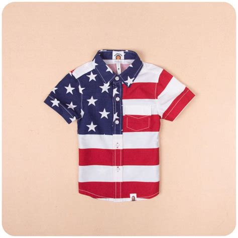 summer usa flag pure cotton children clothing
