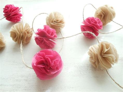 How To Make Paper Pom Pom Garland - paper pom poms shower baby and diy and crafts on
