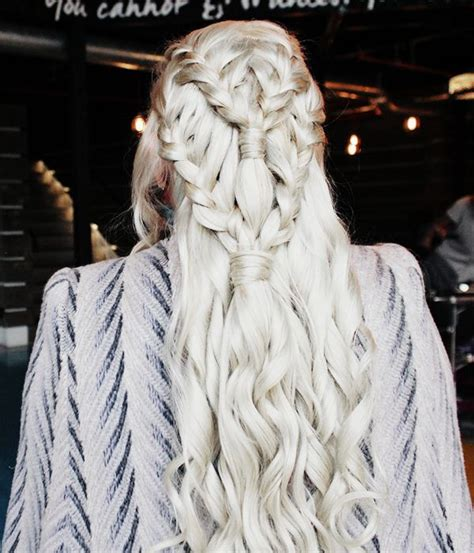 how to do khaleesi braids game of thrones daenerys targaryen khaleesi hair