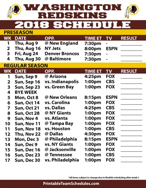 printable nfl team schedule nfl football schedule pictures to pin on pinterest pinsdaddy