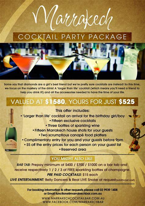 menu design melbourne marrakech cocktail bar melbourne australia