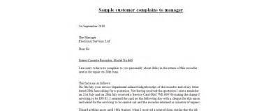 Business Letter Samples Complaint complains to manager complaint letter sample letter of complaint